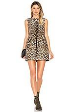 Sleeveless Dress in Nero Leopard Print
