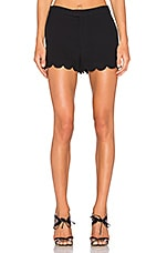 Scallop Silk Short in Black