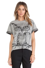 Owl Tee in Grey