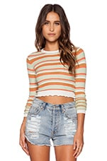 RVCA Splashed Sweater in Sandstorm