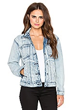 Road Worthy Denim Jacket in Washed Out Blue