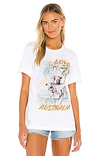 REVOLVE Love To Australia Charity Relief Tee in White