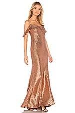 RACHEL ZOE Cecilia Gown in Copper