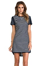 Warren Striped Dress in Admiral/White