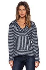 Olive Hooded Sweatshirt in Multi