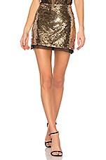 RACHEL ZOE Finn Skirt in Gold