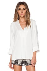 Lane V Neck Top en Blanc