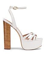 RACHEL ZOE Charlotte Platform Sandal in White