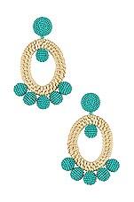Sachin & Babi Panama Drops in Turquoise