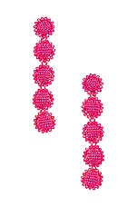 Sachin & Babi Regal 5 Drop Earrings in Fuchsia