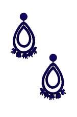 Sachin & Babi Grape Halo Earrings in Imperial Blue