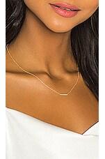 Sachi Diamond Mini Bar Necklace in Gold
