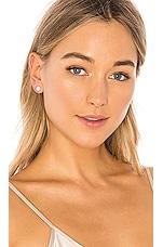 Sachi White Topaz Stud Earrings in White Gold