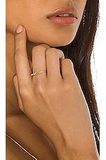 Sachi Rose Cut 5 Diamond Bezel Ring in Gold