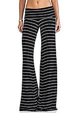 Moby Carol Stripe Pant in Black/White