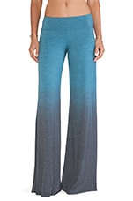 Wide Pant in Teal Ombre Wash