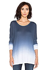 Omega Oversized Top en Night Ombré Wash