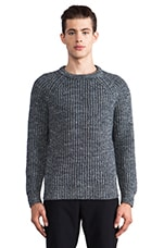 Roland Crew Neck Sweater in Blue