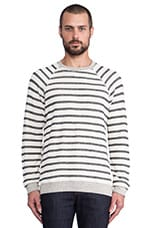 Calder Sweatshirt in Off White & Black