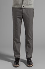 Slim Trouser in Grey Twill