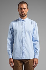 Classic Point Collar Shirt in Light Blue