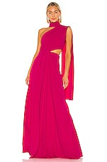 SALONI Honey Gown in Hot Magenta