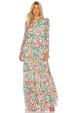 SALONI Isabel Maxi Dress in Summer Confetti