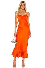 SALONI Mimi B Dress in Papaya