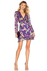 SALONI Jodie Dress in Violet Sweet Peas