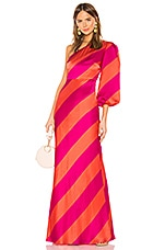 SALONI Lily Gown in Giant Stripe