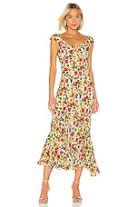 SALONI Daphne Dress in Lemon Poppies