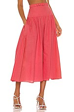 SALONI Zawe Skirt in Watermelon Pink