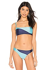 Salinas Colorblock Bikini Top in Blue Colorblock