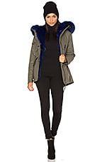 SAM. Luxe Mini Limelight 4-in-1 Parka with Fur in Army Blue
