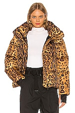 SAM. Elsa Puffer Jacket in Leopard