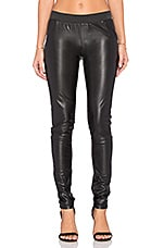 Skylar Faux Leather Legging en Noir