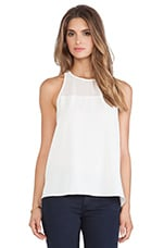 Sheer Yoke Tank in Ivory