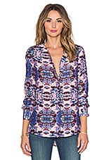 Devon Long Sleeve Blouse en Imprimé