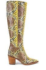 Sam Edelman Lindsey Boot in Yellow Snake