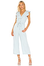 Sanctuary Mica Ruffle Sleeve Jumpsuit in Catalina Wash