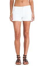 Classic Globe Trotter Shorts in White