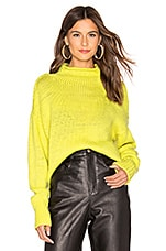Sanctuary Curl Up Sweater in Acid Green
