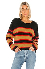 Sanctuary Ezra Striped Sweater in Black Amber Stripe