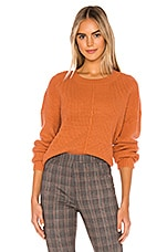 Sanctuary Sorry Not Sorry Sweater in Washed Carnelian