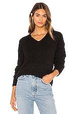 Sanctuary V Neck Teddy Sweater in Black