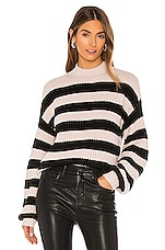 Sanctuary Sweet Tooth Striped Sweater in Light Pearl & Black Stripe