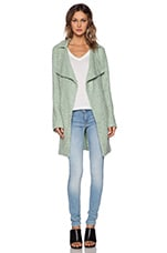 Aurora Sweater Coat in Winter Mint