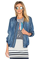 Bomber Jacket in Positano Wash