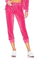 Sanctuary Velour Track Jogger in Street Pink