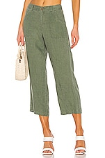 Sanctuary Traveler Wide Leg Crop Utility Pant in Peace Green